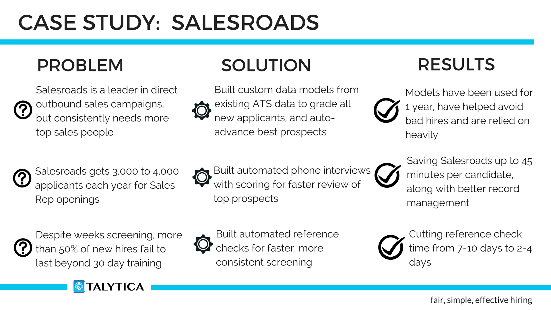 Talent Analytics, Pre-hire Assessments, Automated phone interviews